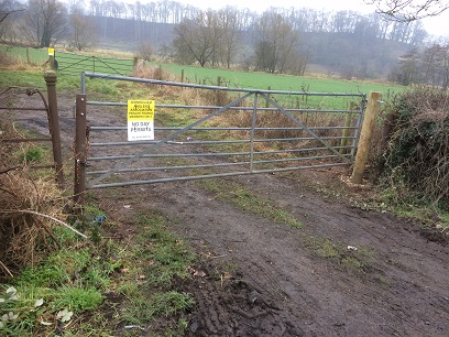 Lindridge lay-by gate