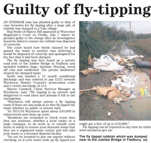 Fly tipping prosecution